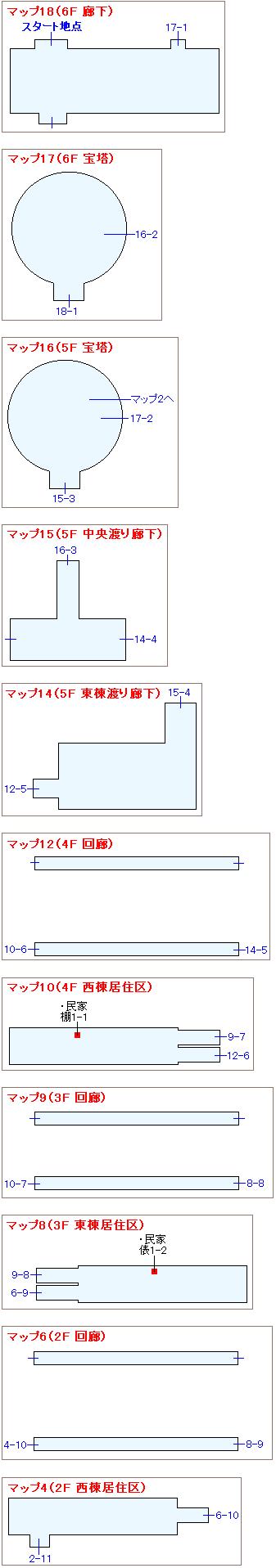 ストーリー攻略マップ・白嶺城(2)