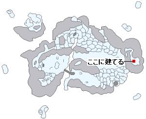ストーリー攻略マップ・雪の世界ワールドマップ