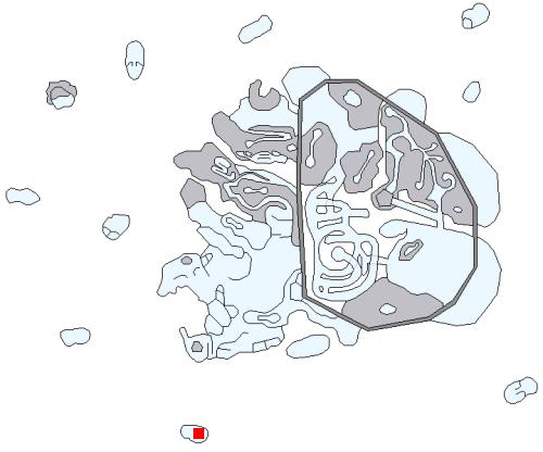 海辺の洞穴の場所