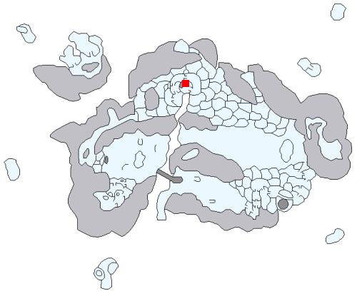 雪山の遺跡の場所