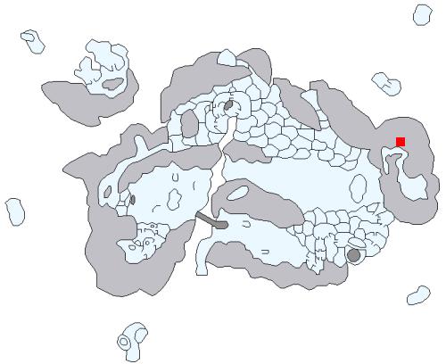 雪山の洞穴の場所
