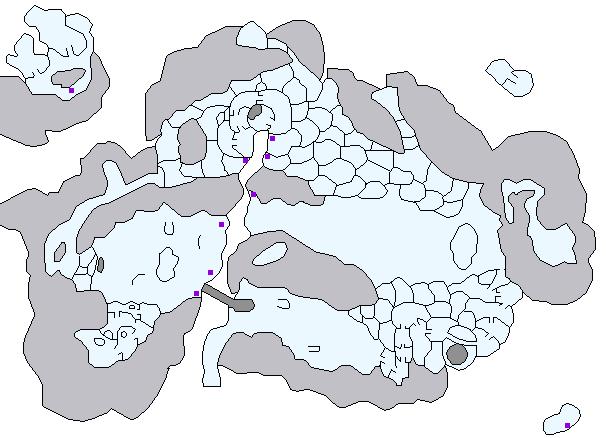 ケイオシウム結晶の場所(雪の世界)