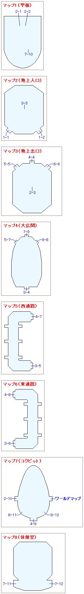 方舟のマップ画像