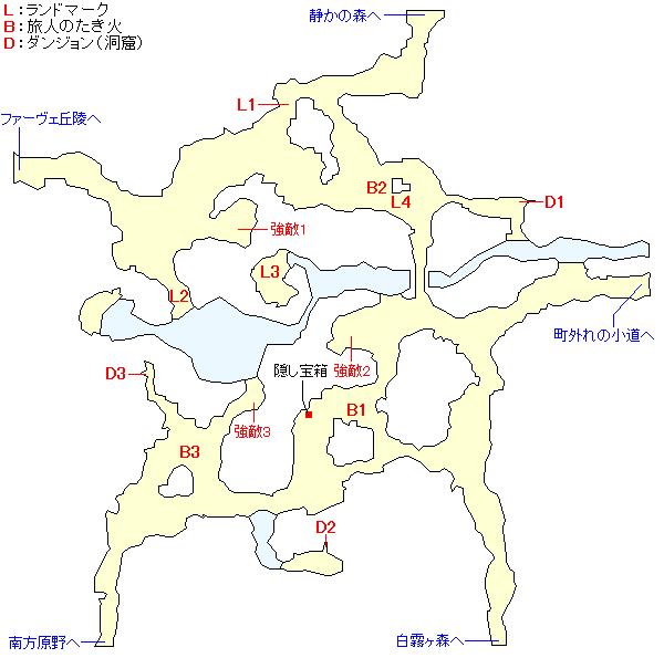 旅人の雑木林のマップ画像