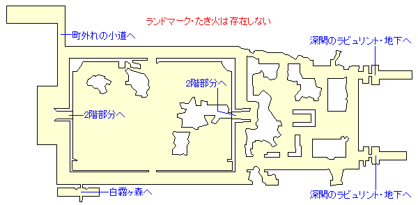 深閑のラビュリントのマップ画像