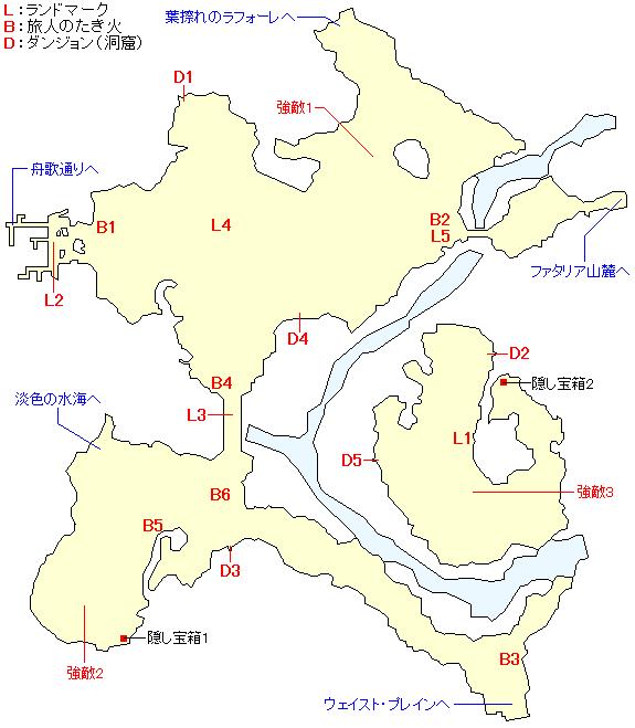 クラーデル平原のマップ画像