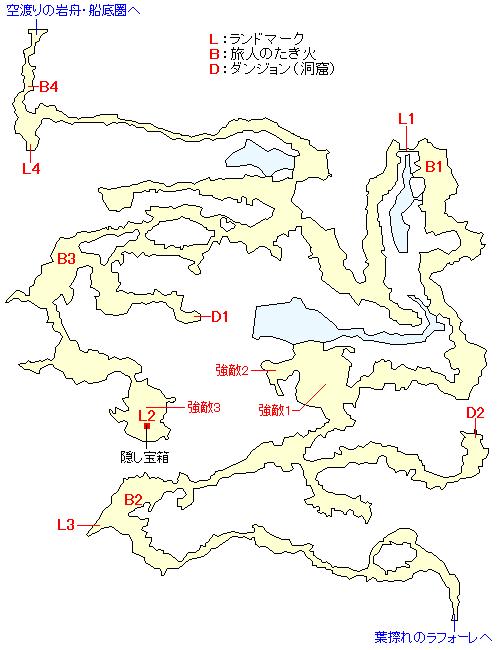 月掴み峠のマップ画像
