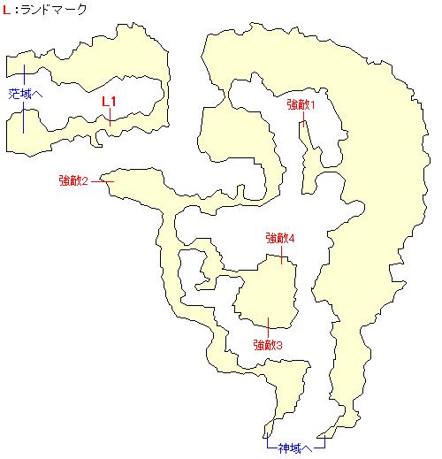 天衝樹アインホルン・漠域のマップ画像