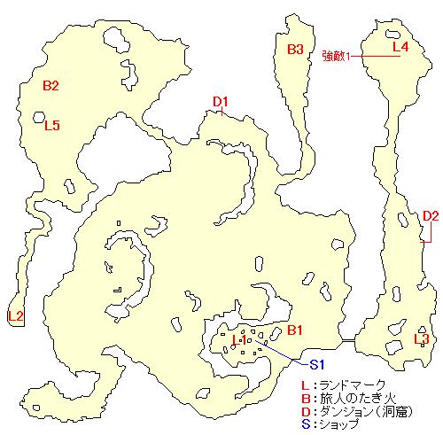 聖地ベスティエのマップ画像
