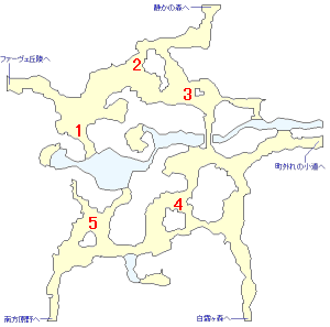 攻略チャートミニマップ・旅人の雑木林