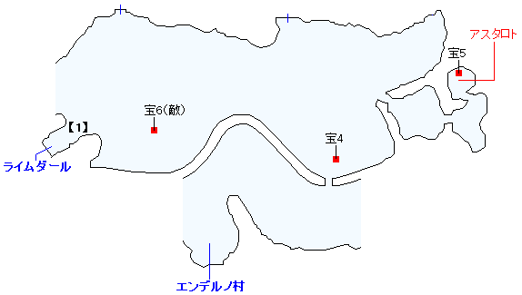 ストーリー攻略 「3章 羽ばたく炎」・ワールドマップ(ライムダール周辺)(1)
