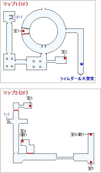 ストーリー攻略 「3章 羽ばたく炎」・大聖堂内部(1)