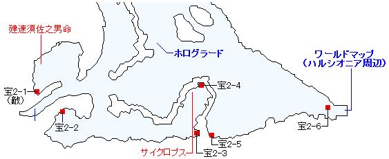 ストーリー攻略「5章 ふたつの世代」・ワールドマップ(ホログラード周辺)(1)