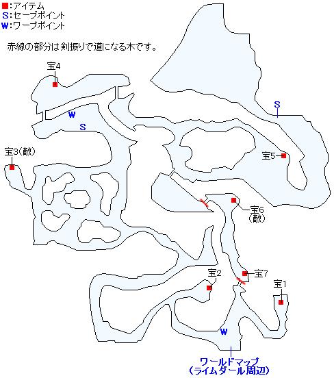 樹氷の森のマップ画像