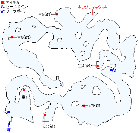 虚無の孤島のマップ画像