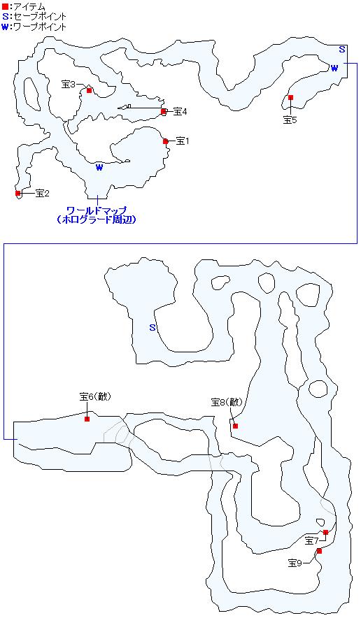 岩溶けの洞窟のマップ画像