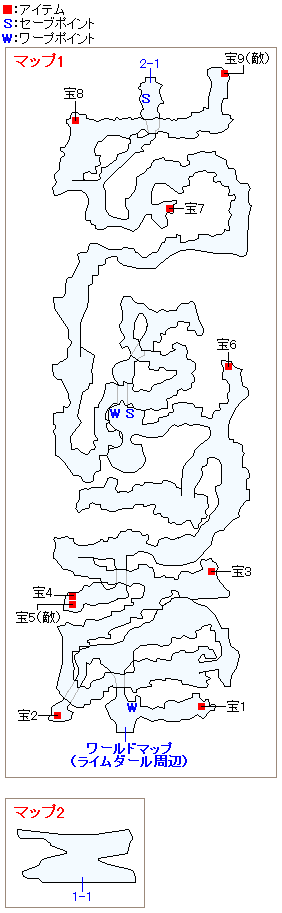 竜洞のマップ画像