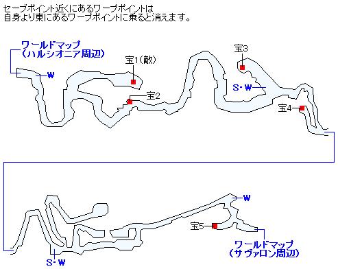 風の渓谷のマップ画像