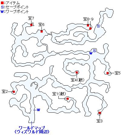 深緑の樹林のマップ画像
