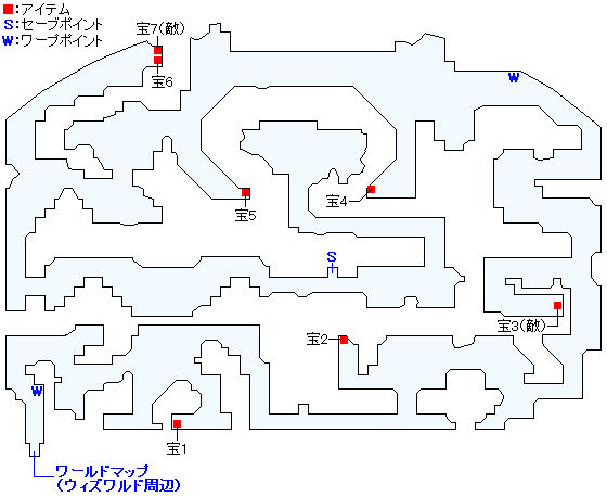 朽ちた研究所のマップ画像