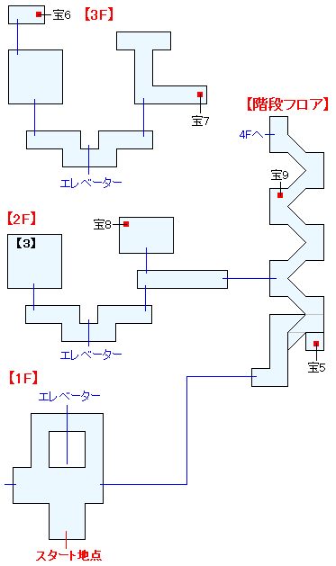 時間要塞・クロノポリス(ANOTHER)マップ画像(2)