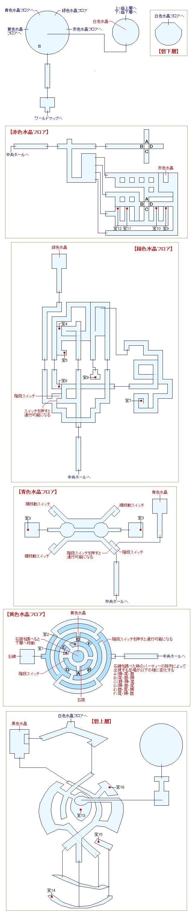 古龍の砦マップ