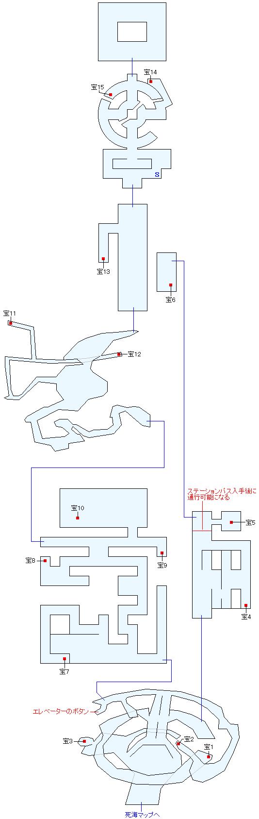 死海・滅びの塔マップ画像