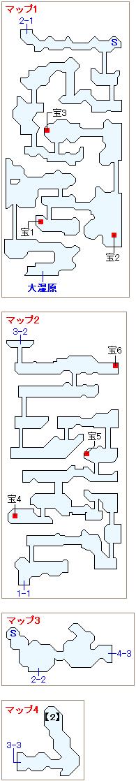 竜の聖域・緑山(原始)マップ画像(2)