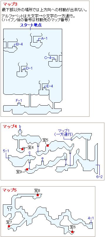 次元のゆがみ(古代)・氷雪原マップ画像(2)