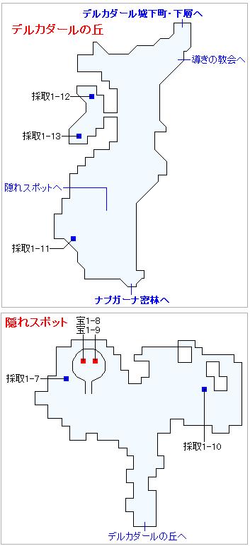 Switch版(2D)&3DS版(2D)ストーリー攻略マップ・デルカダールの丘