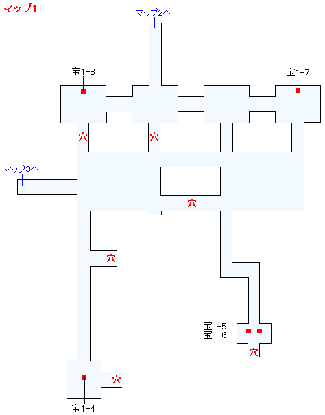 Switch版(2D)&3DS版(2D)ストーリー攻略マップ・荒野の地下迷宮(3)