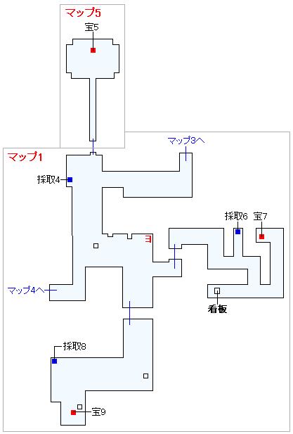 3DS版(2D)ストーリー攻略マップ・怪鳥の幽谷(2)