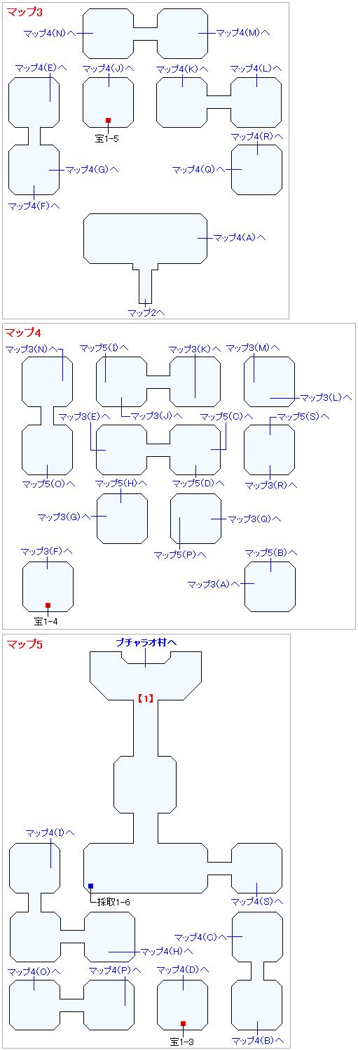 3DS版(2D)ストーリー攻略マップ・壁画世界(1)