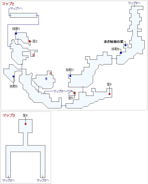 3DS版(2D)ストーリー攻略マップ・始祖の森(2)