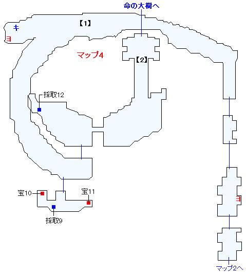 Switch版(2D)&3DS版(2D)ストーリー攻略マップ・始祖の森(3)