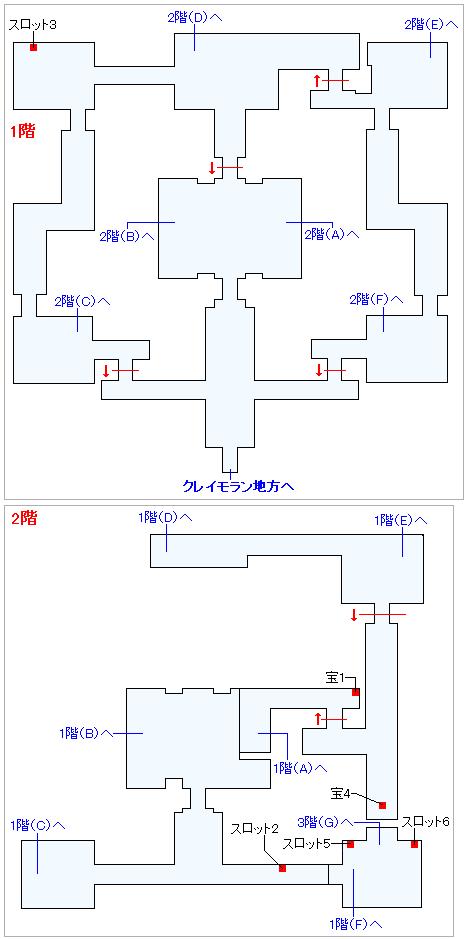 3DS版(2D)ストーリー攻略マップ・黄金城(1)