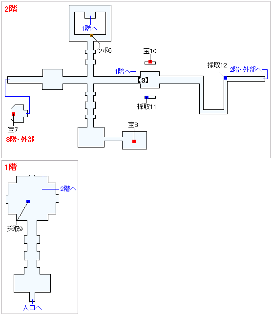Switch版(2D)&3DS版(2D)ストーリー攻略マップ・天空魔城(3)