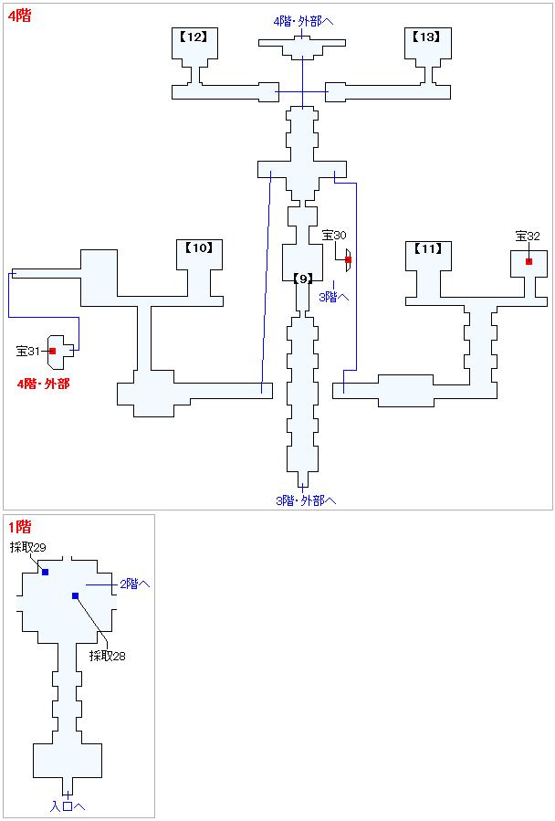 Switch版(2D)&3DS版(2D)ストーリー攻略マップ・天空魔城(7)