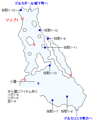 3DS版(3D)ストーリー攻略マップ・デルカダール地方(2)
