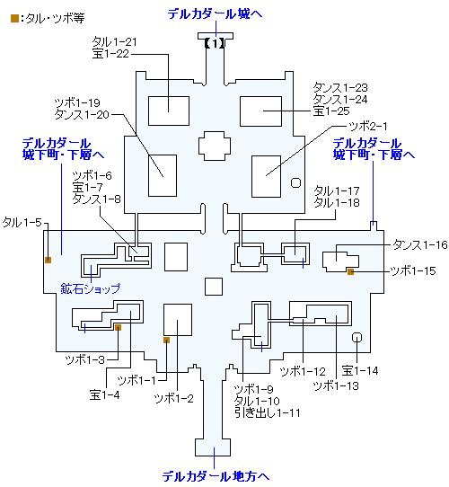 3DS版(3D)ストーリー攻略マップ・デルカダール城下町