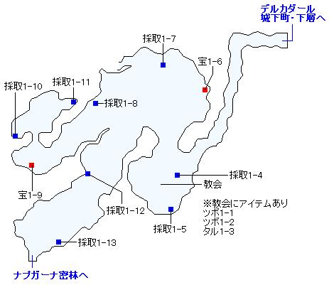 3DS版(3D)ストーリー攻略マップ・デルカダールの丘
