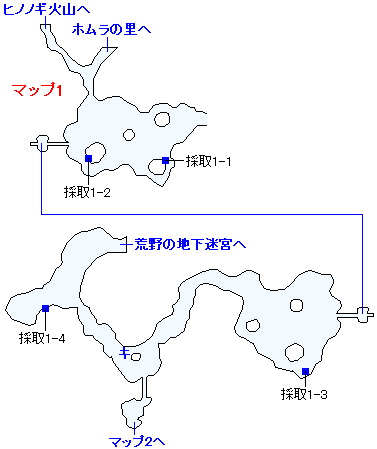 3DS版(3D)ストーリー攻略マップ・ホムスビ山地