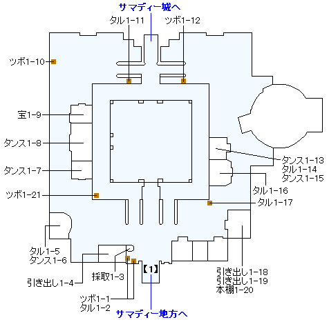 3DS版(3D)ストーリー攻略マップ・サマディー城下町
