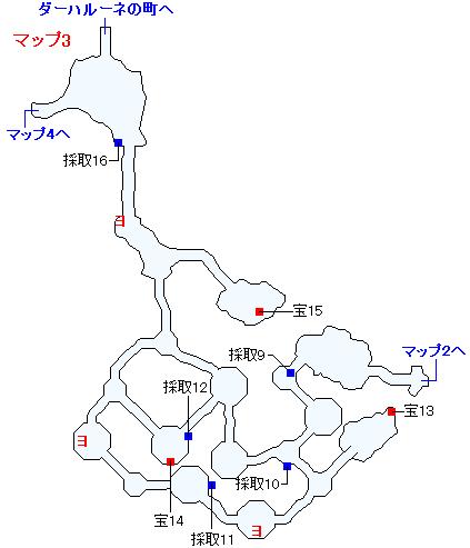3DS版(3D)ストーリー攻略マップ・ダーハラ湿原(2)