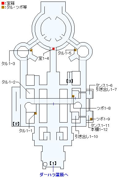 3DS版(3D)ストーリー攻略マップ・ダーハルーネの町