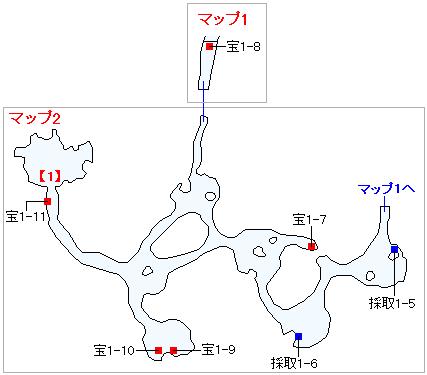 3DS版(3D)ストーリー攻略マップ・グロッタ地下遺構(2)