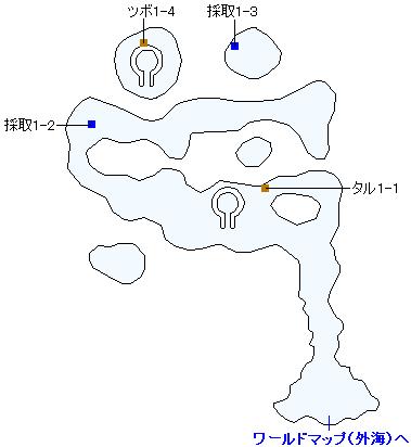 3DS版(3D)ストーリー攻略マップ・メダチャット西の島