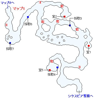 3DS版(3D)ストーリー攻略マップ・ミルレアンの森(1)