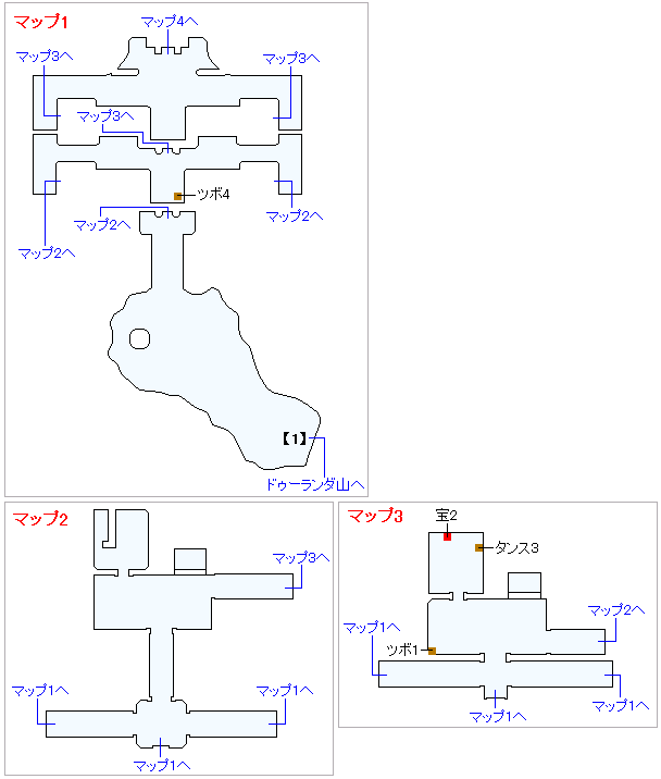 3DS版(3D)ストーリー攻略マップ・ドゥルダ郷(1)