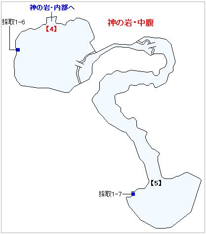 PS4版のストーリー攻略マップ・神の岩(3)